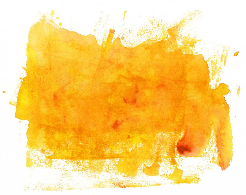 Abstract artistic bright yellow watercolor background texture