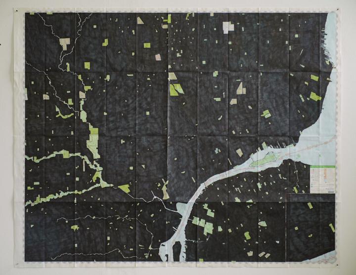 Jennifer Bennett, COVERED MAP DETROIT, 2006